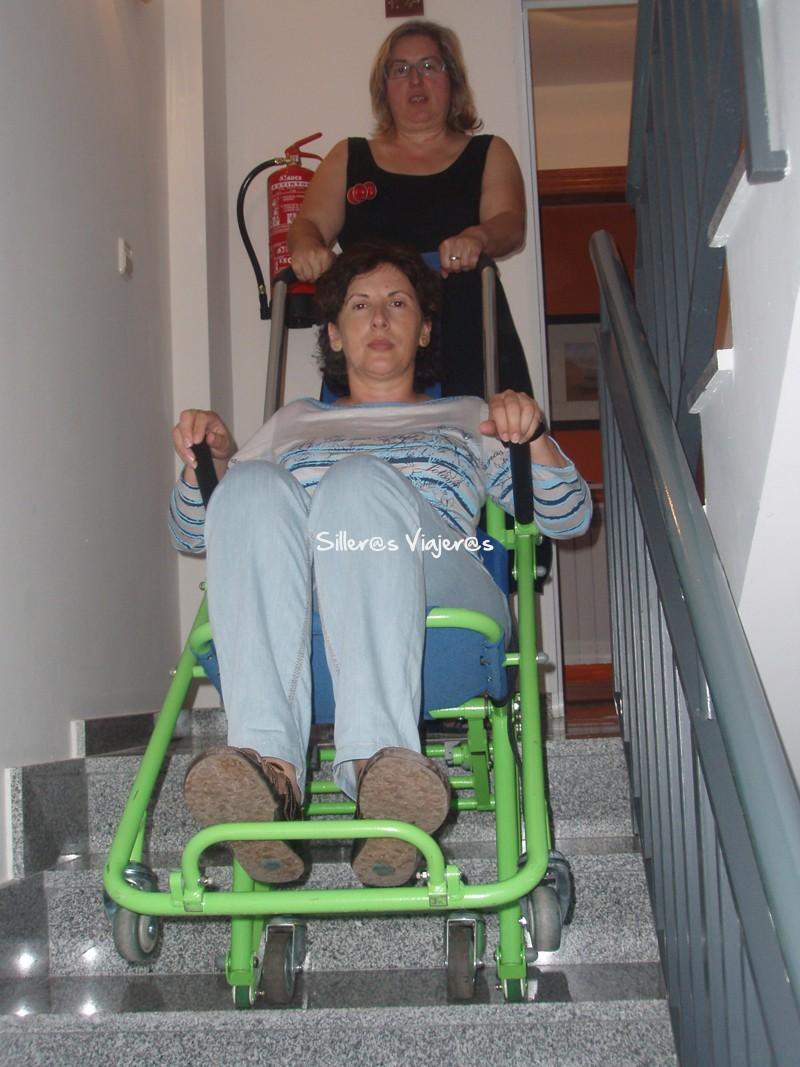 Silla de evacuación para personas con discapacidad