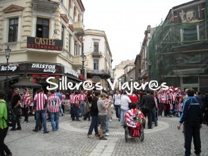 Silleando con el Athletic en Bucarest