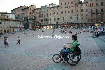 En la plaza del Pallio de Siena