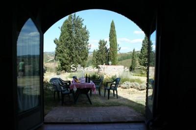"""Exterior del apartamento Petrarca, con su pequeña """"terraza"""""""