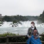 Joan y Txell en las cataratas del Rin
