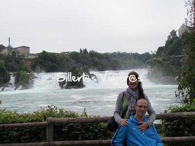 Joan y Txell en las cataratas
