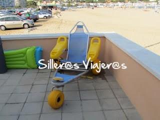 Silla anfibia para la playa
