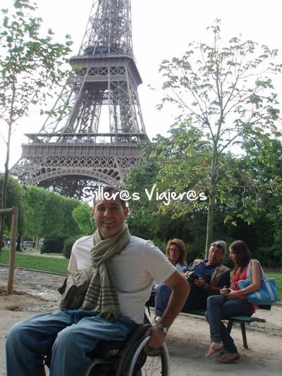 Llegando a la Torre Eiffel