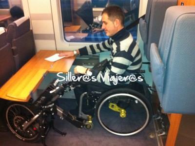 Sitio en el tren reservado para silleros