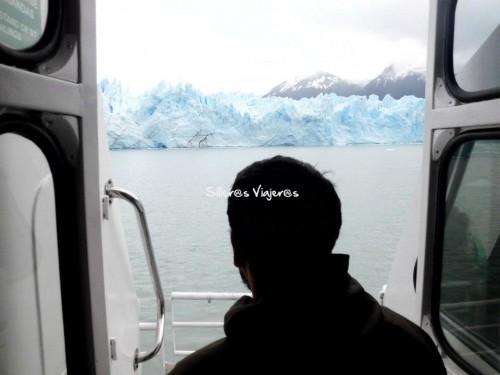 En el barco para ver el Perito Moreno
