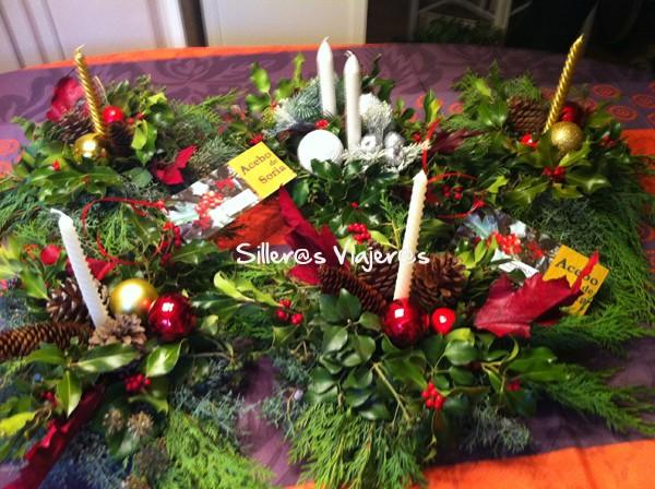 Centros navideños con acebos de Soria