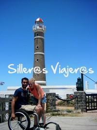 Pablo y Sara descubriendo costa este Uruguay con silla de ruedas