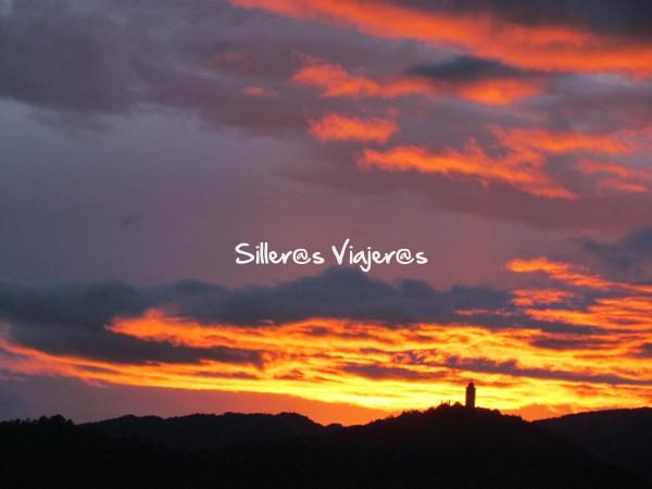 Preciosa puesta de sol llegando a Barbastro