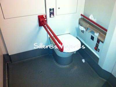 Baño adaptado del tren