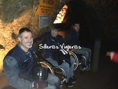 Interior de la cueva muy bien accesible