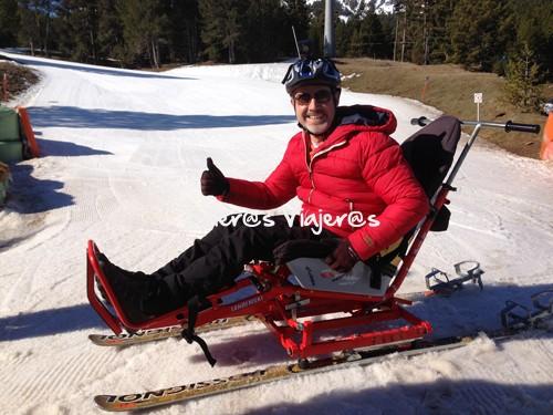 Preparado para empezar a esquiar