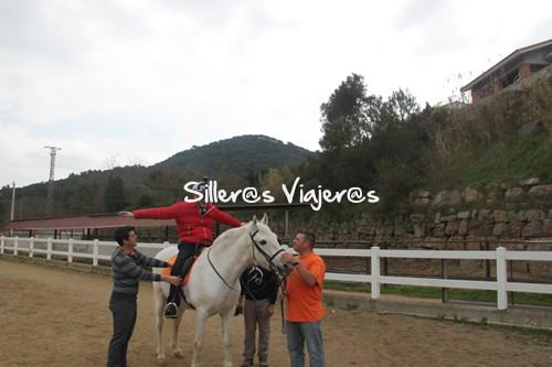 Montando a caballo en la Fundación Don Caballo
