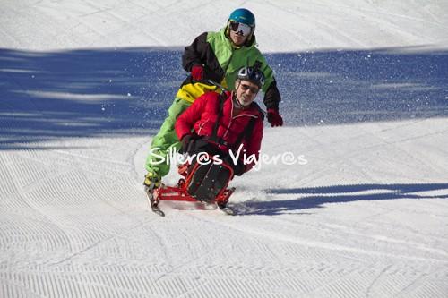Esquiando con el monitor