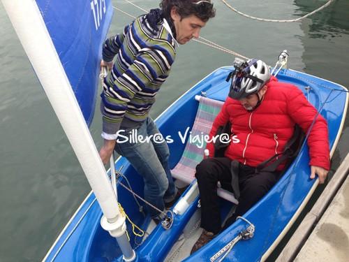 Silleros viajeros navegando a vela en L'escala