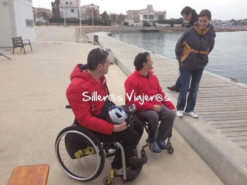 Con Miki Gómez, paralímpico y ganador del último Open L'Escala Accesible