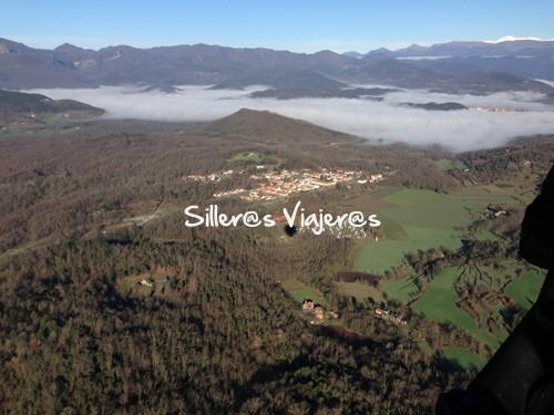 Vistas del Pirineo y la Garrotxa desde el globo