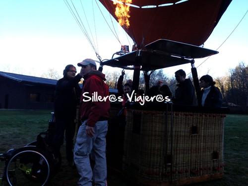 Cómo entrar en el globo con silla de ruedas