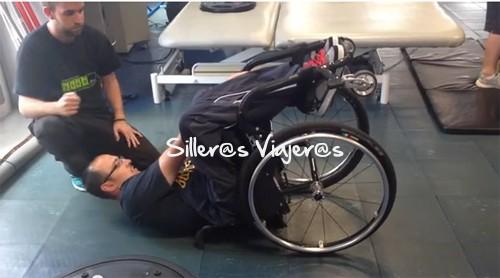 Cómo levantarse en una caida de silla de ruedas