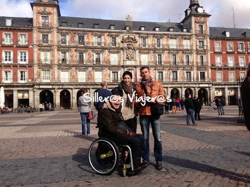 Plaza mayor de Madrid en silla de ruedas