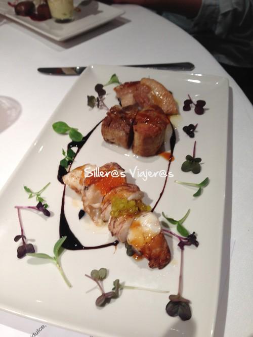 Presentación de los platos en el restaurante