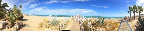Foto panorámica de la playa accesible