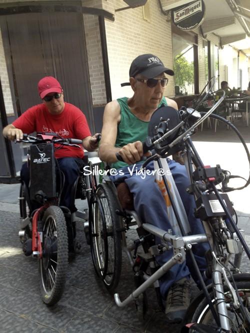 Ruta con handbikes y Batecs