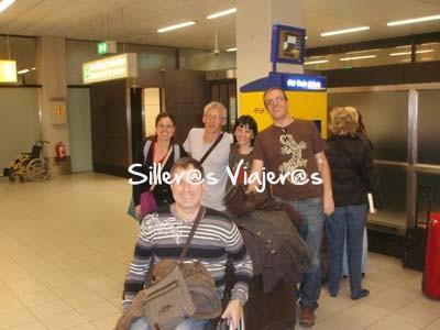 En el aeropuerto rumbo a la ciudad de Ámsterdam