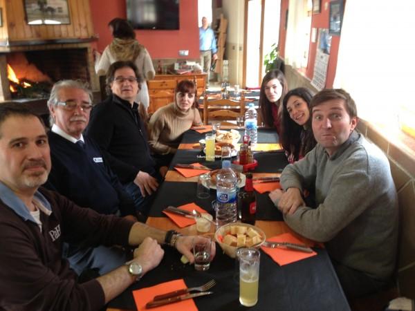 Comida en un restaurante de Cataluña
