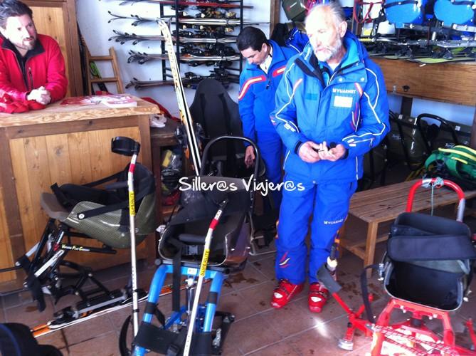 esquí adaptado en Sierra Nevada