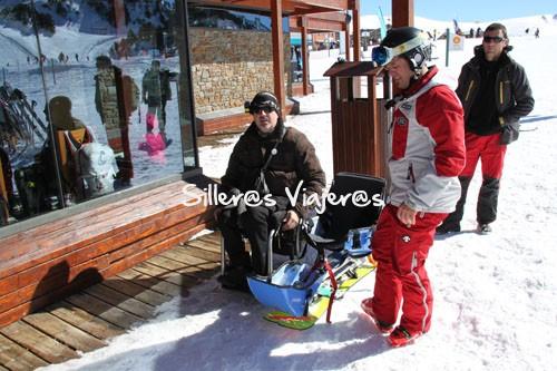 Traspado a la silla de esquí adaptado