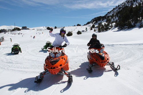 Motos de nieve adaptadas