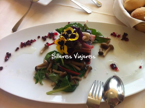 Menú especial de verduras
