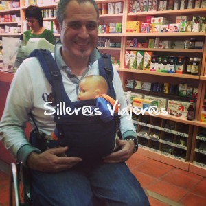 Mochila porta bebé para silleros
