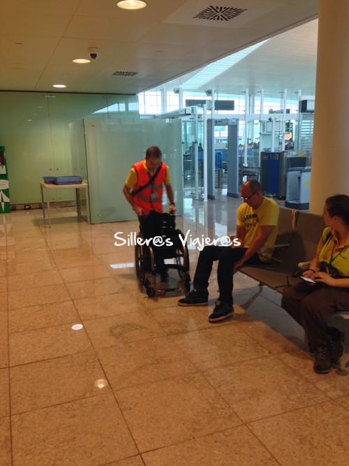 EScaneo a la silla en el aeropuerto