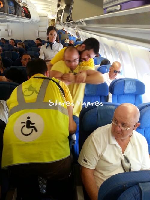 Transferencia a la silla del avión