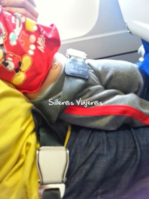 Cinturón dible en el asiento para bebés