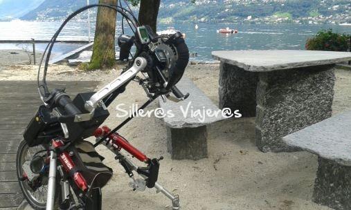Rutas en silla de ruedas con el motor acoplado