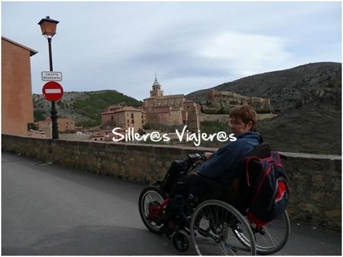 Con mi handbike por Albarracín
