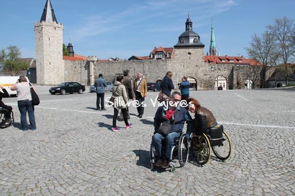muralla Mühlhausen desde mi silla de ruedas