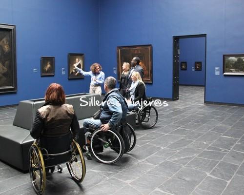 Museo Städel Museum Frankfurt en silla de ruedas