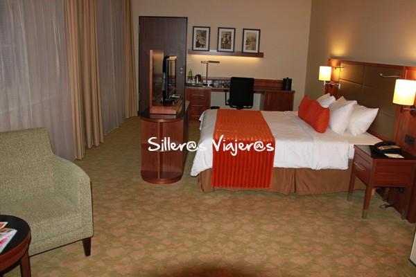 Habitación adaptada del Hotel Couryard Marriot Bremen