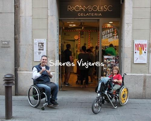 Heladería de los hermanos Roca accesible para personas con discapacidad