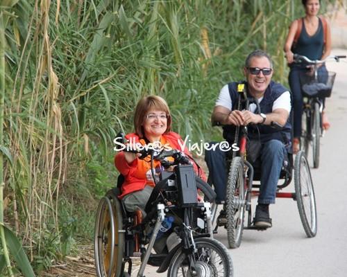 ruta en handbike por vía verde accesible en Girona