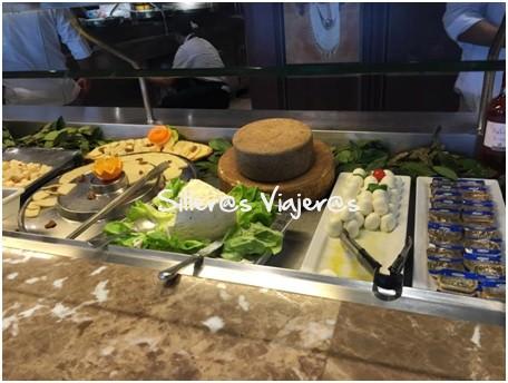 barra buffet en crucero adaptado por el Mediterráneo