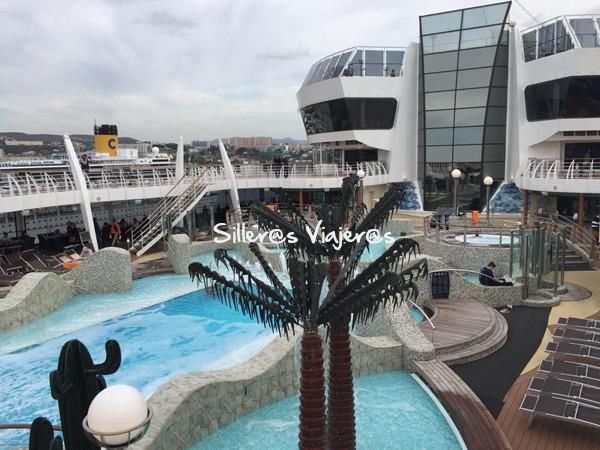 cubierta de crucero accesible por el Mediterraneo