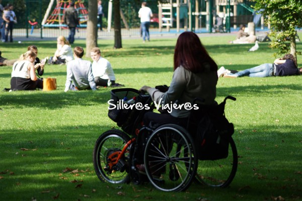 Parque de st. stephen en silla de ruedas