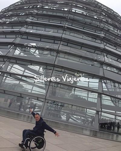 Cupula del Reichstag accesible para personas con discapacidad