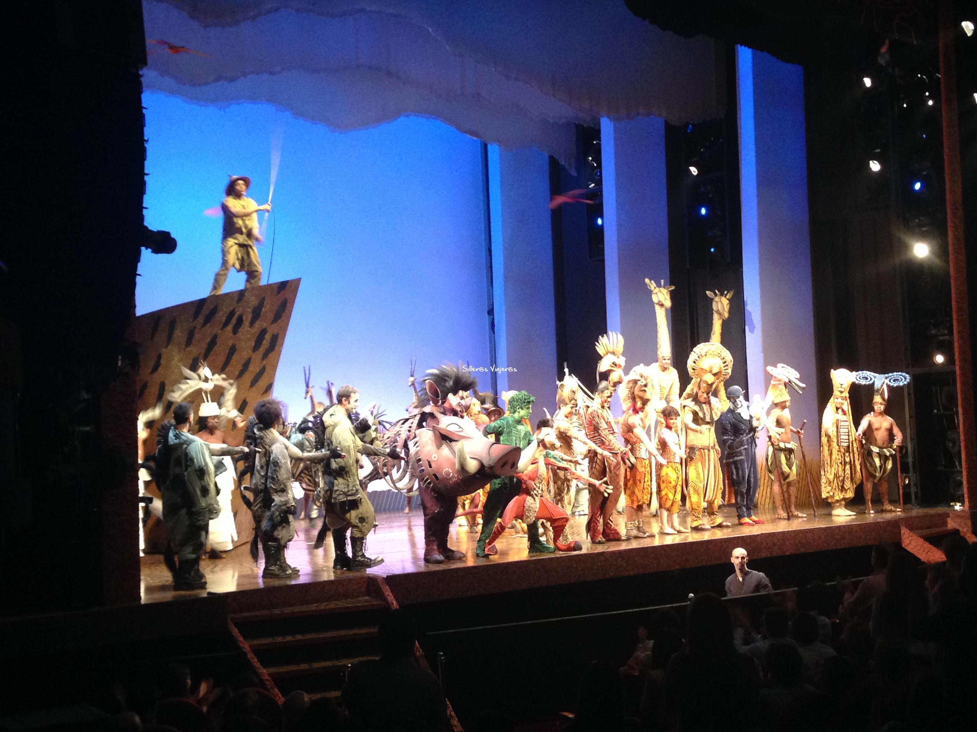 Escenario del musical.