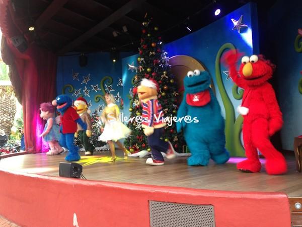 Actuación en el parque Port Aventura.